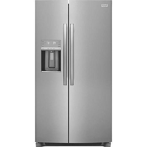 Réfrigérateur côte à côte de 36 po de largeur et de 22,2 pi3 en acier inoxydable Smudge-Proof®, profondeur de comptoir - ENERGY STAR®