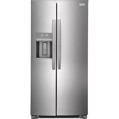 Frigidaire Gallery 33-inch W 22.2 cu. ft. Side by Side Refrigerator in Stainless Steel