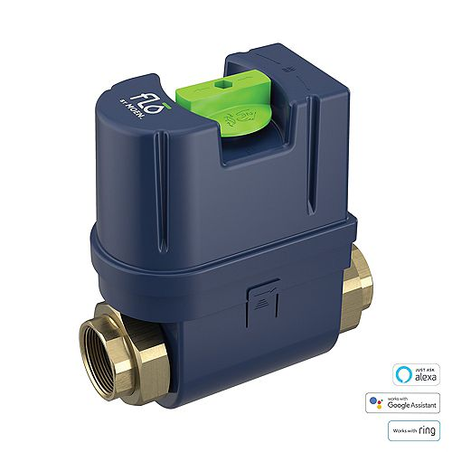 Flo 1.25 in. Water Leak Detector with Automatic Water Shut Off Valve