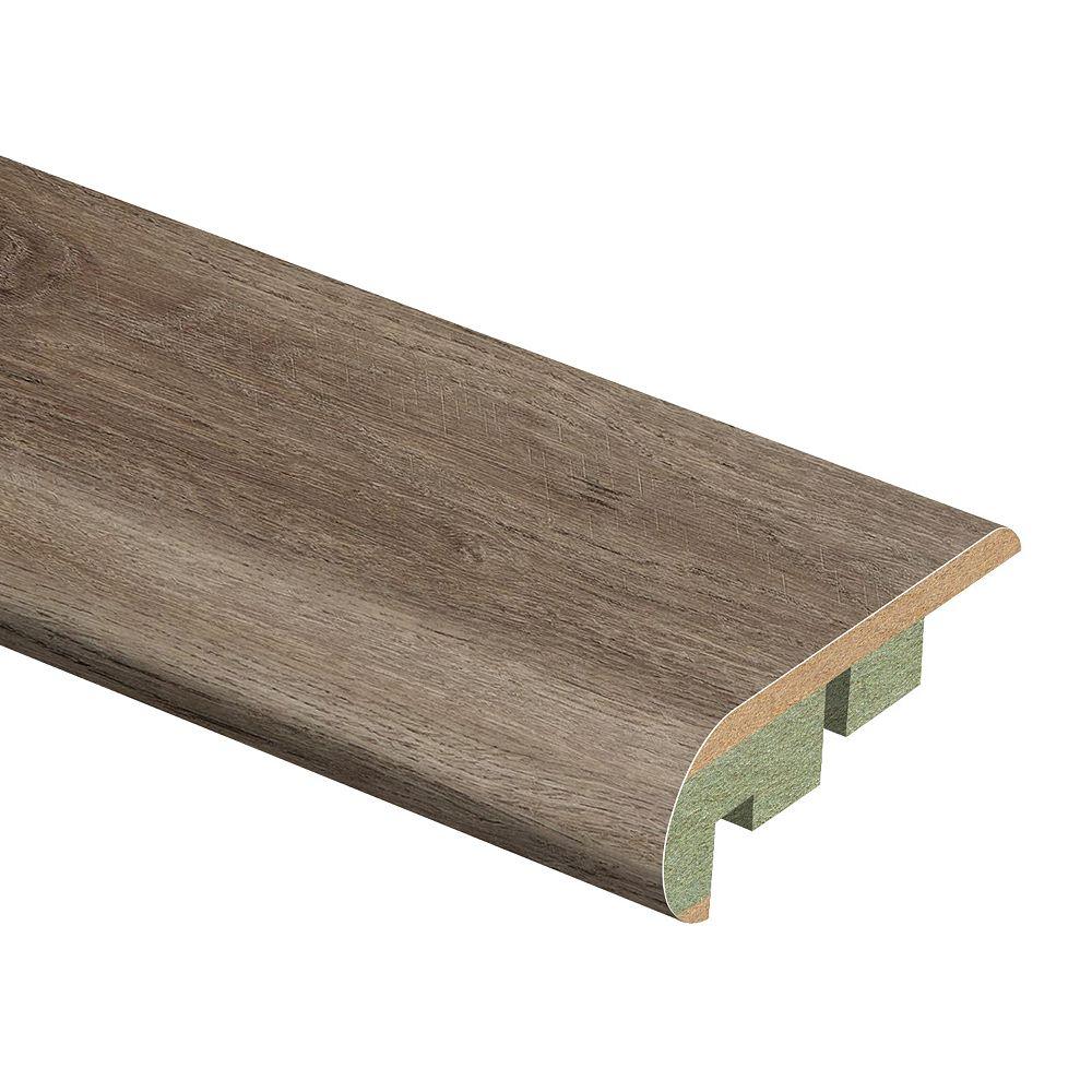 Zamma Smoked Oak .75 inch x 2.125 inch x 94 inch Laminate Stair Nose Molding