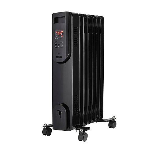 Konwin 7-Fin Oil-Filled Heater with 3 Heat Settings, Black