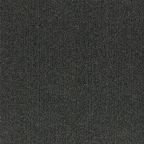 Foss Floors Rib N09 Black Ice 18-inch x 18-inch Carpet Tiles (10 Tiles / Case)