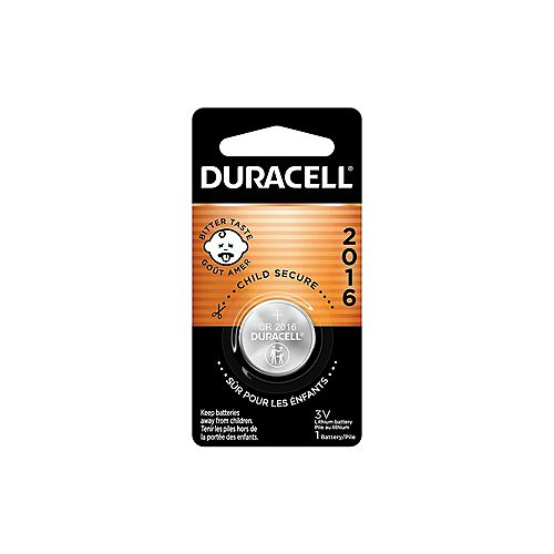 Duracell Lithium Coin 2016 Batteries  1 count