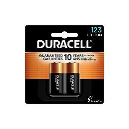 Piles au Lithium 123, 2 pièces