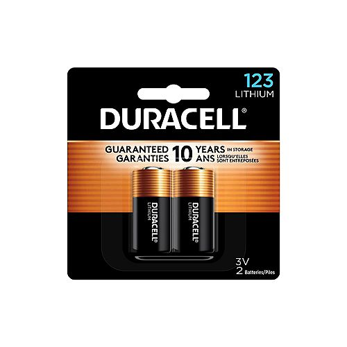 Lithium  123 Batteries 2 count