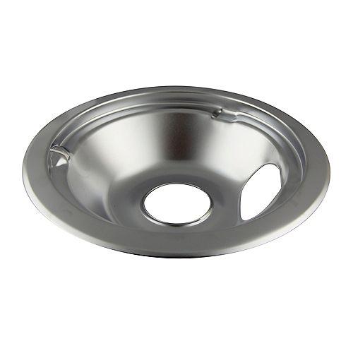 """Range Kleen 6""""/Sm Chrome Drip Bowl, Sgl Pk w/ step down"""