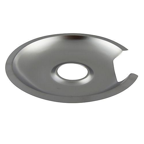 "Range Kleen 8""/Lg Chrome Drip Pan, Sgl Pk"