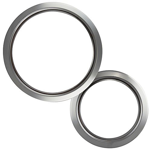"""Range Kleen 1 Sm/6"""" & 1 Lg/8"""" Chrome Trim Ring, 2 Pk"""