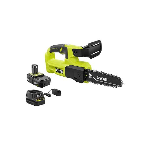 18V ONE+ Lithium-Ion Cordless 8 in. Pruning Saw Kit with 2.0 Ah Battery and Charger