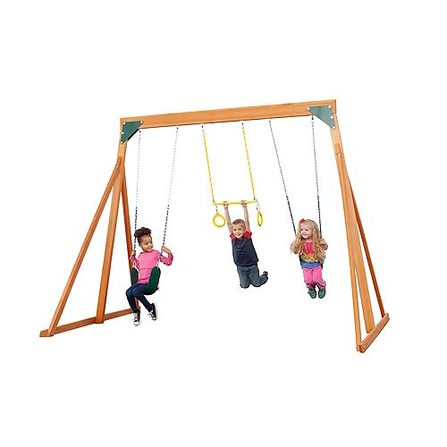 Trailside Wooden Swingset- Multicolor Accessories