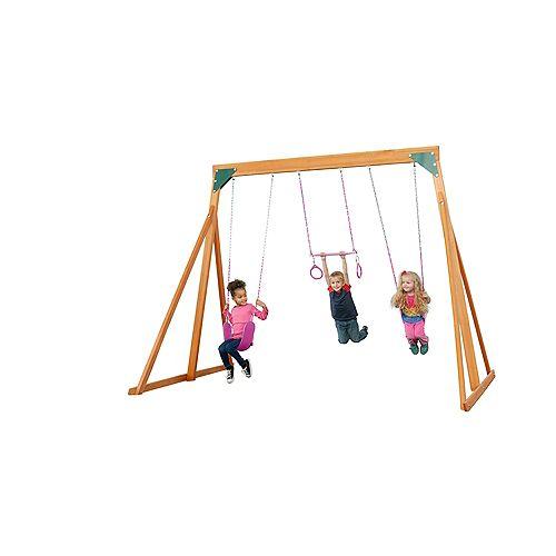Trailside Wooden Swingset- Pink Accessories