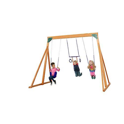 Creative Cedar Designs Trailside Wooden Swingset- Purple Accessories