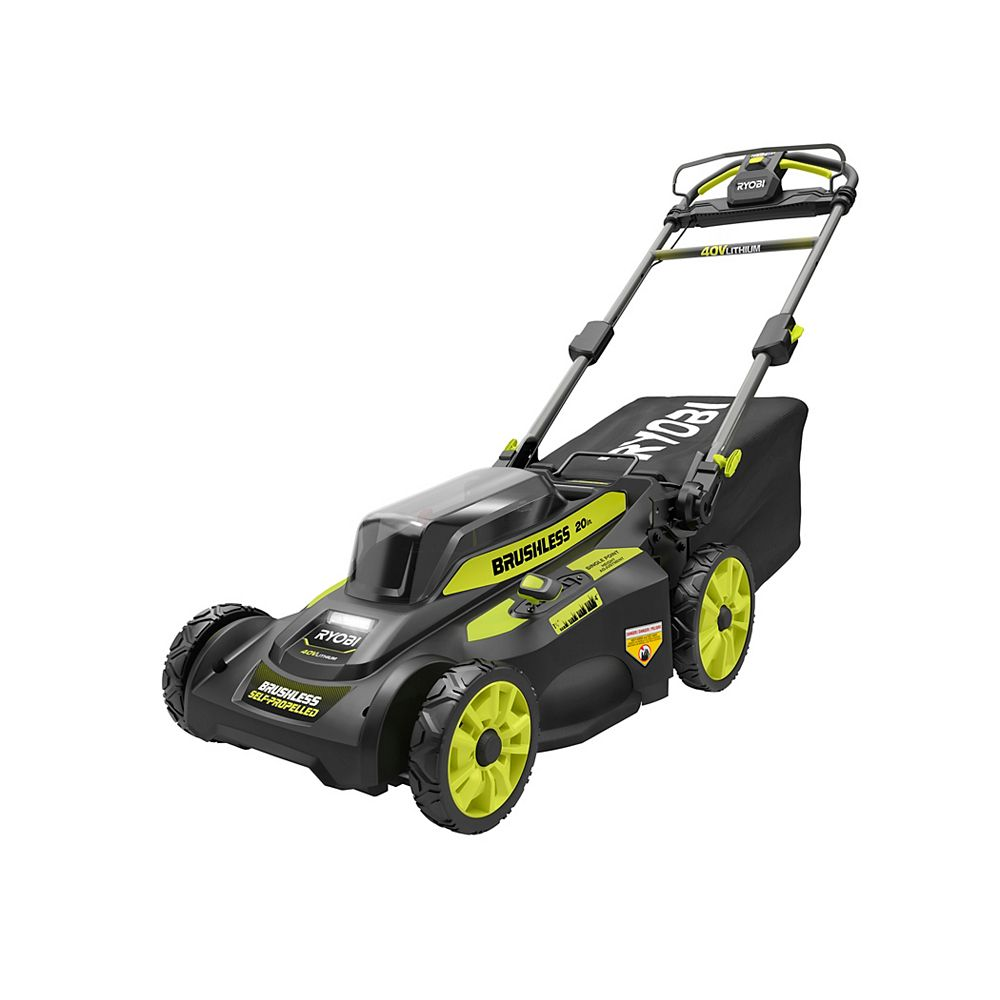 RYOBI 20-inch 40V Brushless Lithium-Ion Cordless Walk Behind Self-Propelled Lawn Mower (Tool-Only)