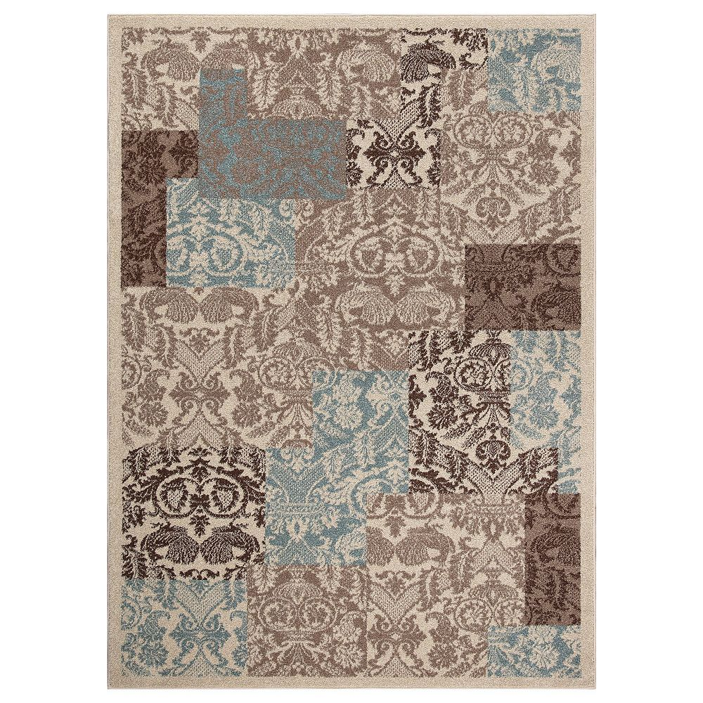 Concord Global Trading Chester Patchwork Soft 6 Ft 7 Inch X 9 Ft 3 Inch Indoor Area Rug The Home Depot Canada