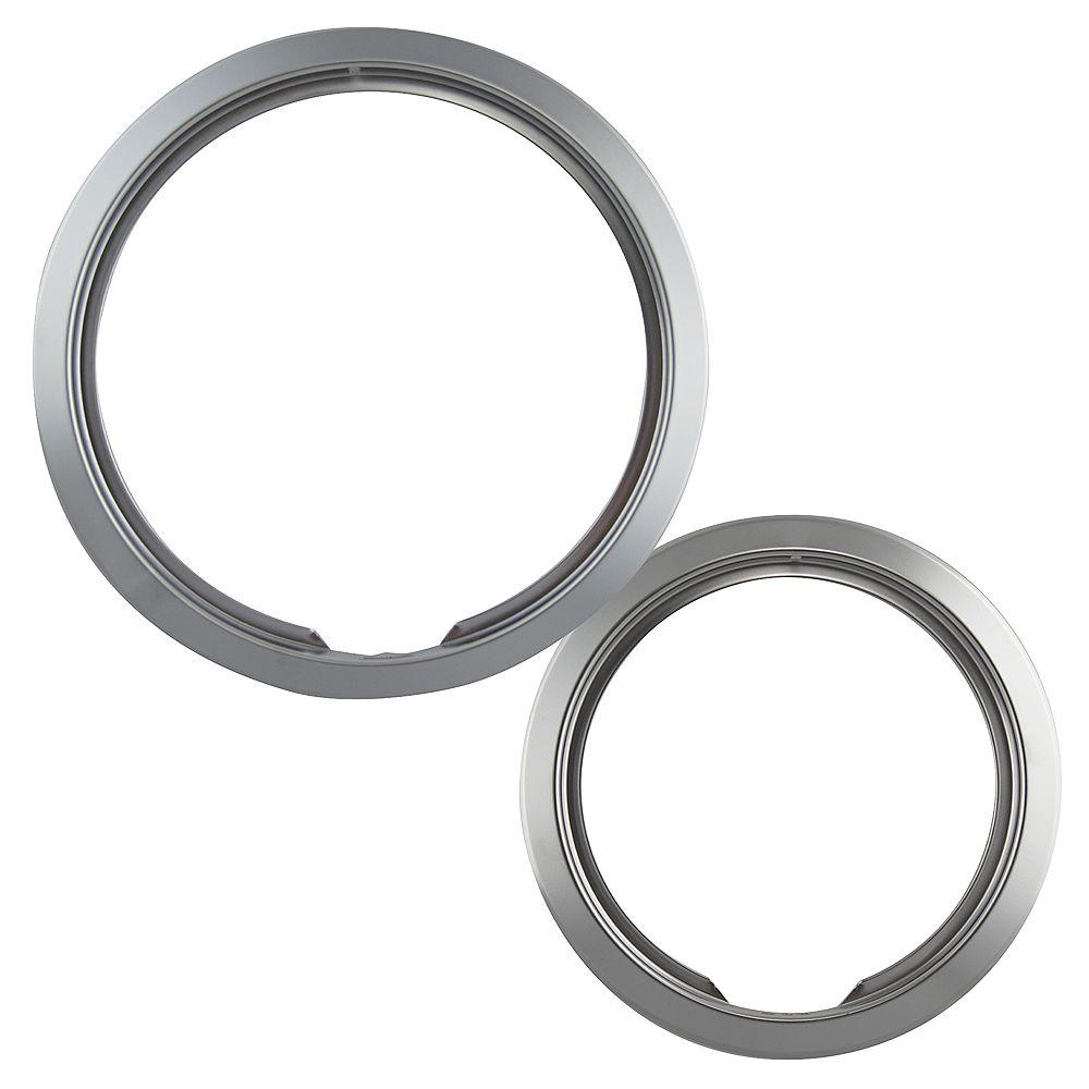 """Range Kleen Range Kleen 1 Sm/6"""" & 1 Lg/8"""" Chrome Trim Ring, 2 Pk"""
