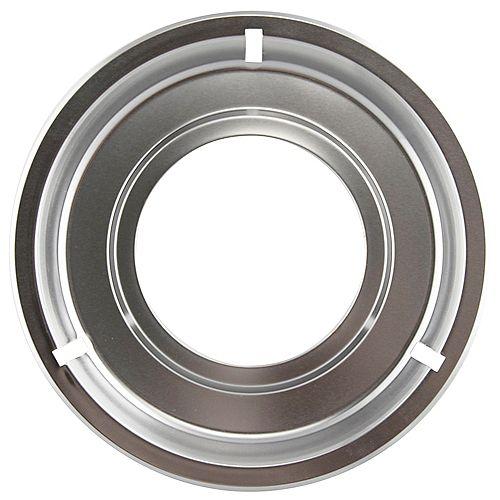 "Range Kleen 8.25"" Chrome Drip Pan, Sgl Pk"