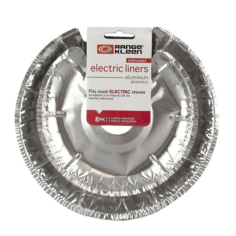 Range Kleen Range Kleen 4 Sm & 4 Lg Foil Drip Bowl Liners, 8 Pk