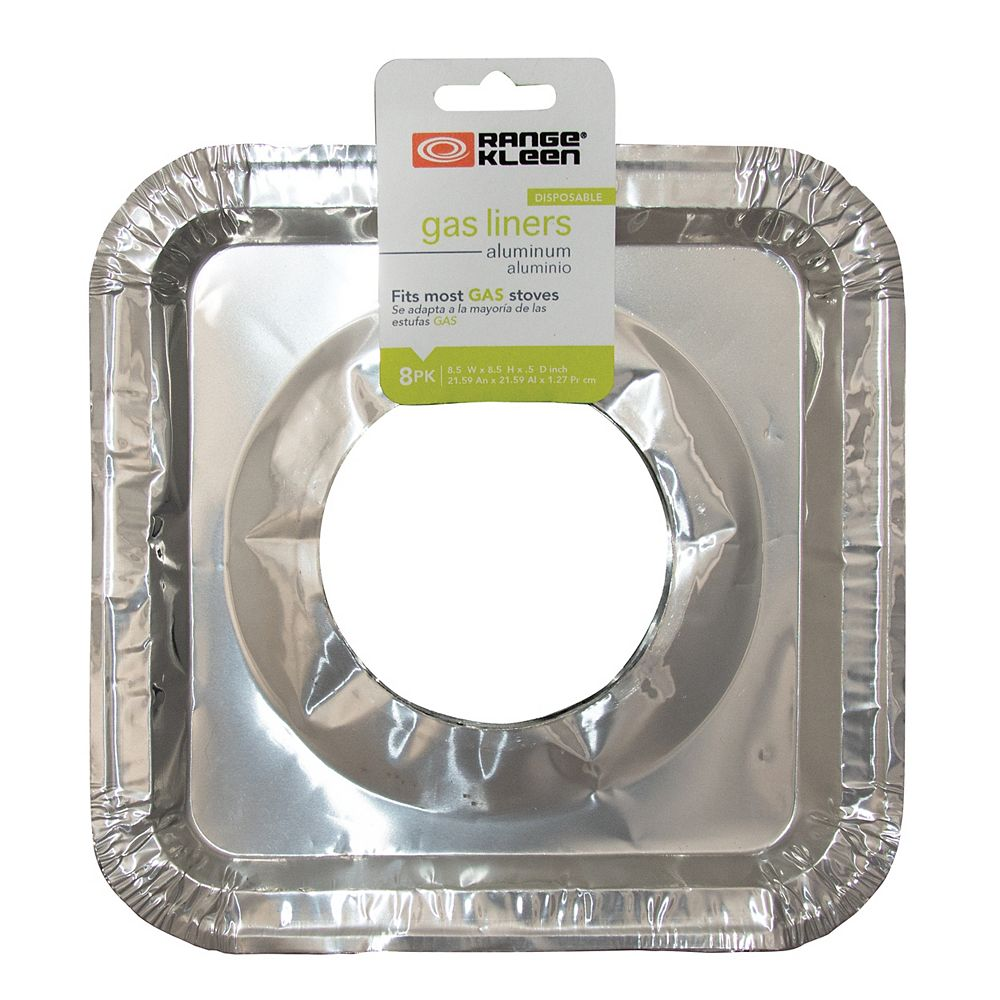 Range Kleen Range Kleen Square Foil Drip Pan Liners, 8 Pk
