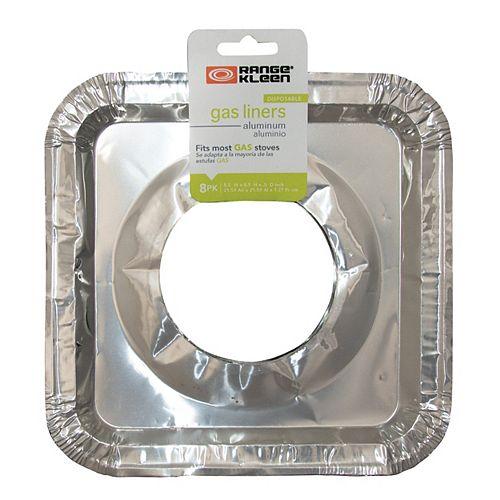 Range Kleen Square Foil Drip Pan Liners, 8 Pk