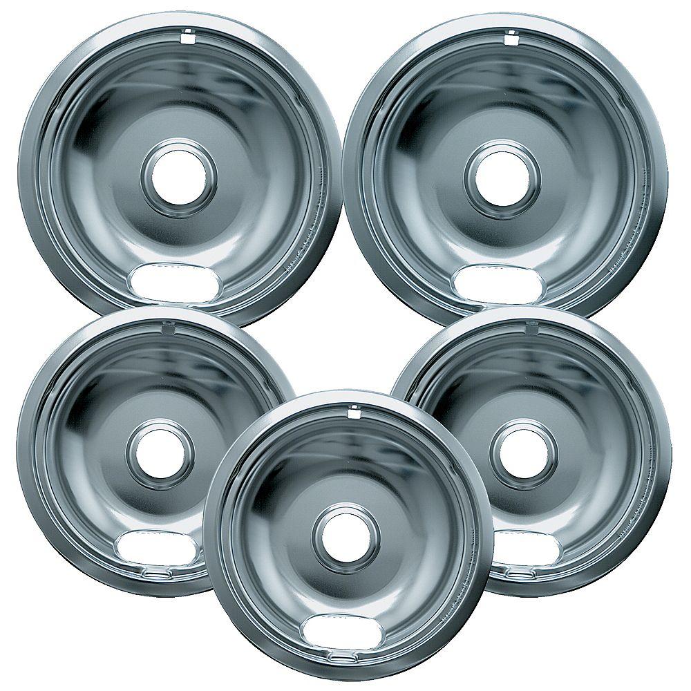 "Range Kleen Range Kleen 3 Sm/6"" & 2 Lg/8"" Economy Drip Bowls, 5 Pk"
