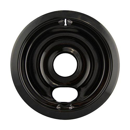 "Range Kleen 6""/Sm Black Porcelain Drip Bowl, Sgl Pk"