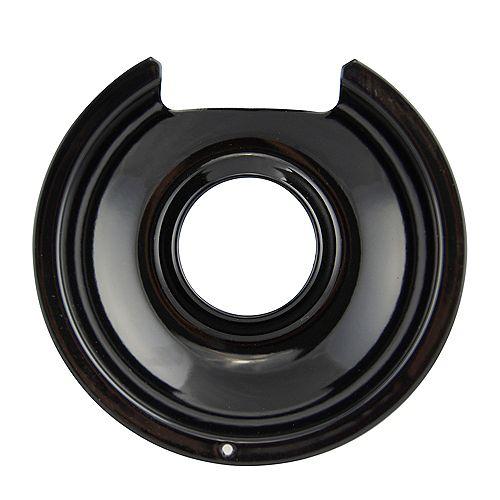 "Range Kleen 6""/Sm Black Porcelain Drip Pan, Sgl Pk"