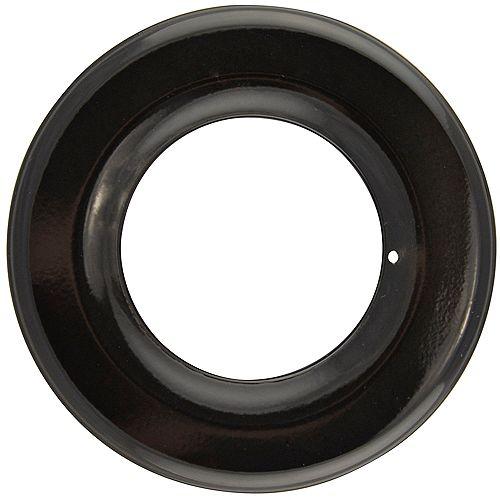 "Range Kleen 6.875"" Black Porcelain Drip Pan, Sgl Pk"