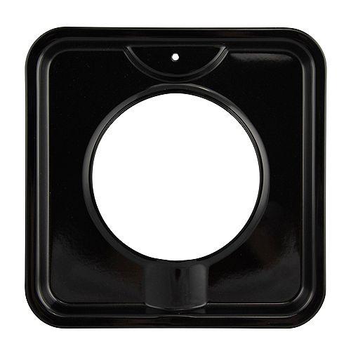 "Range Kleen 7.75"" Square Black Porcelain Drip Pan, Sgl Pk"