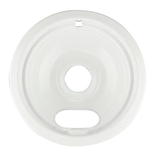 "Range Kleen 6""/Sm White Porcelain Drip Bowl, Sgl Pk"