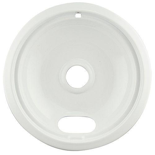 """Range Kleen 8""""/Lg White Porcelain Drip Bowl, Sgl Pk"""