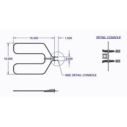 Range Kleen Broil Element GE (3000 W, 250 V)