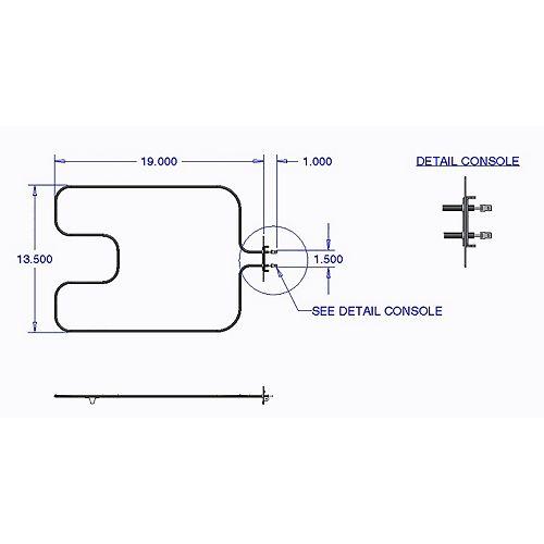 Range Kleen Bake Element Frigidaire (2700 W, 250 V)