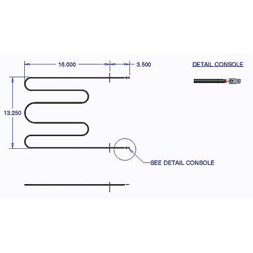 Range Kleen Broil Element Kenmore, Whirlpool (3400/2550 W, 240/208 V)