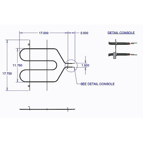 Range Kleen Broil Element GE, Hotpoint (3410 W, 240 V) 2 bumps