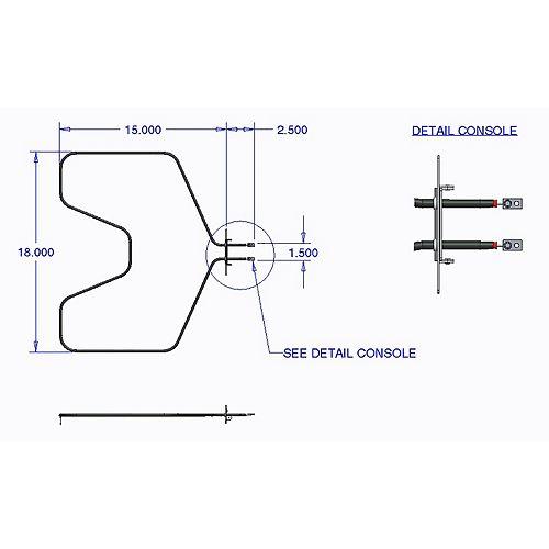 Range Kleen Bake Element GE, Hotpoint (2585 W, 250 V)