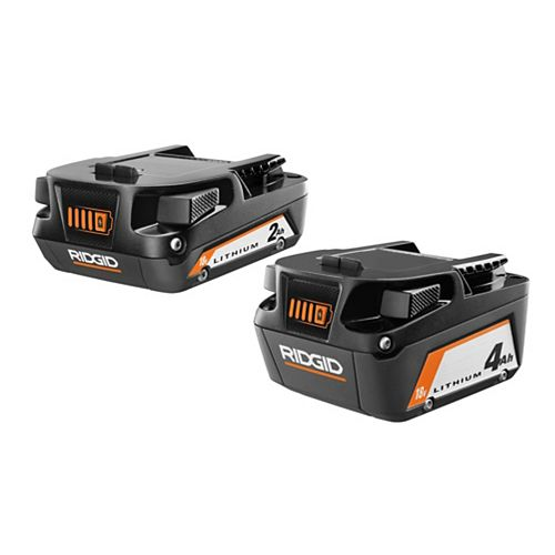 Batterie Lithium-Ion 18V 2.0Ah & 4.0Ah (2-Pack)