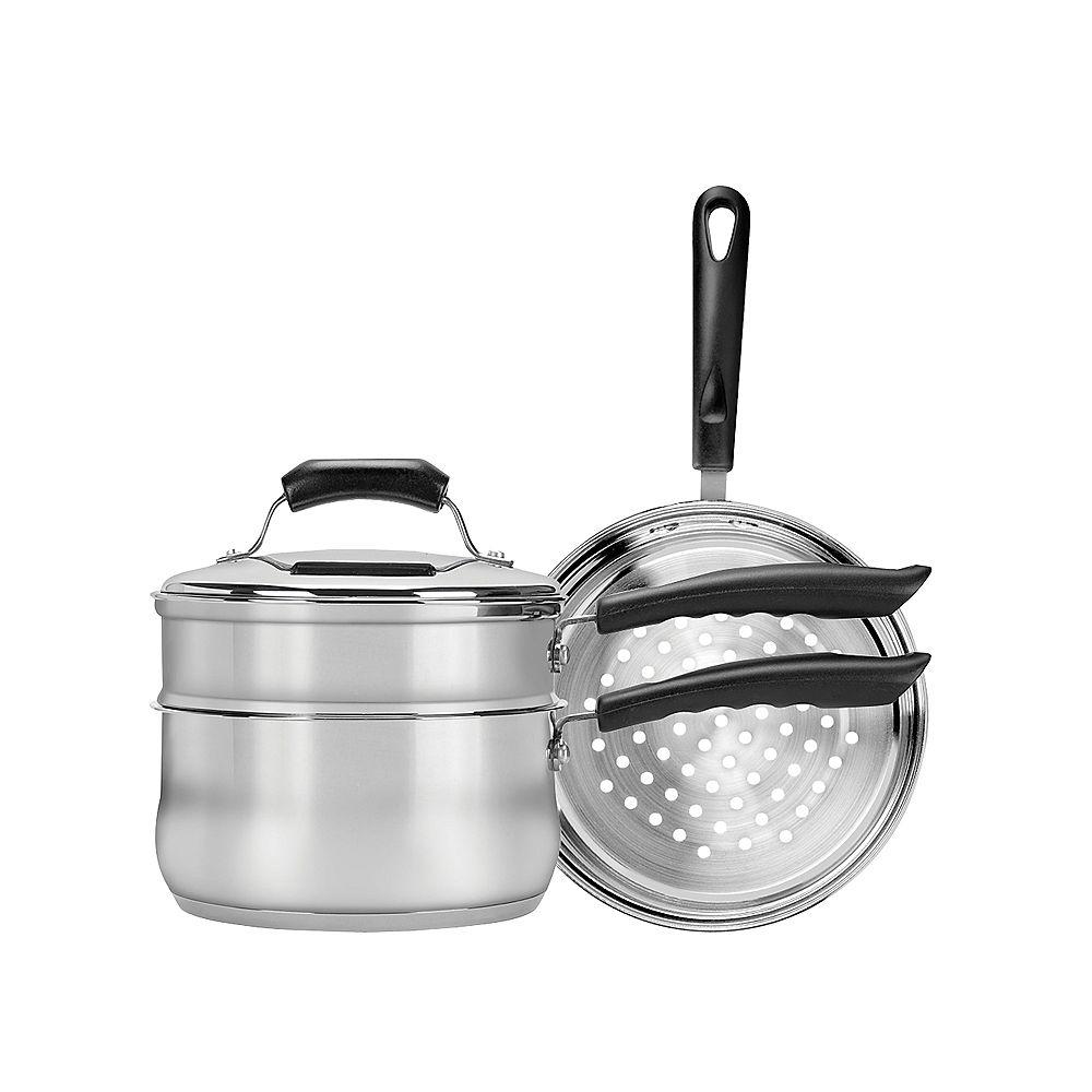 Range Kleen Range Kleen Basic Double Boiler & Steamer Insert Set 3 qt. w/ lid