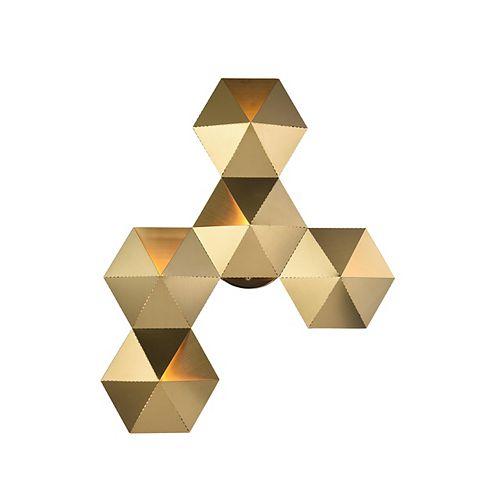 Appliqué Murale Del Or En Forme De Prisme (5 Lumières)