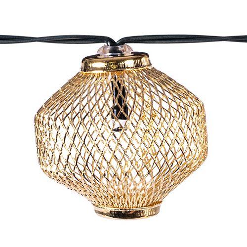 12 Ft Metal Solar String Light