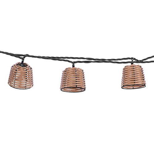 11.5 Foot Décor Rattan LED String Light Set of 10