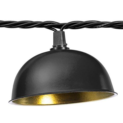 11.5 Foot Black Décor LED String Light Set of 10
