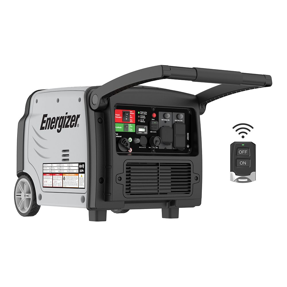 Energizer 3,500W Quiet Inverter Generator with Remote Start and Parallel | Model: eZV3500P