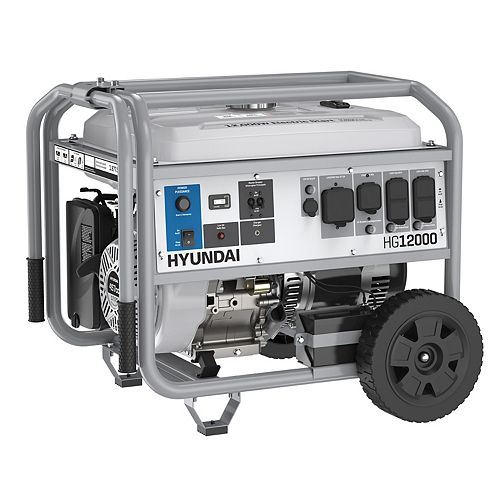 12,000W Electric Start Portable Gas Powered Generator with GFCI  Model: HG12000