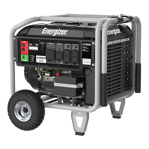 Energizer eZV8000 | 8,000W Push Button Start, Pure Sine Wave Inverter Generator