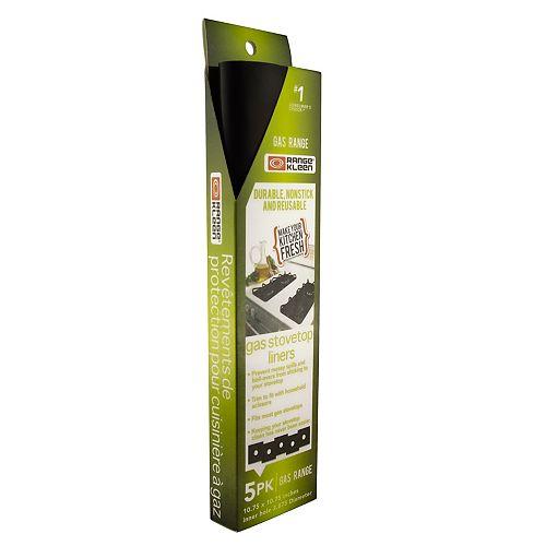 Range Kleen Gas Stovetop Liners 5 Pk