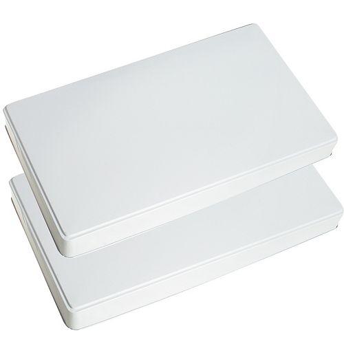 Range Kleen Burner Kovers Rectangle White