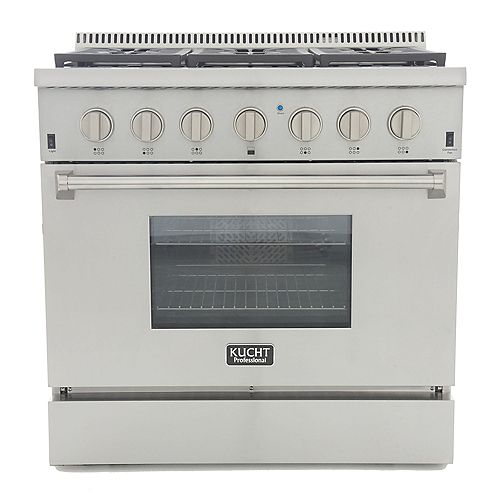 Kucht Professional 36-in Dual Fuel Range for Natural Gas