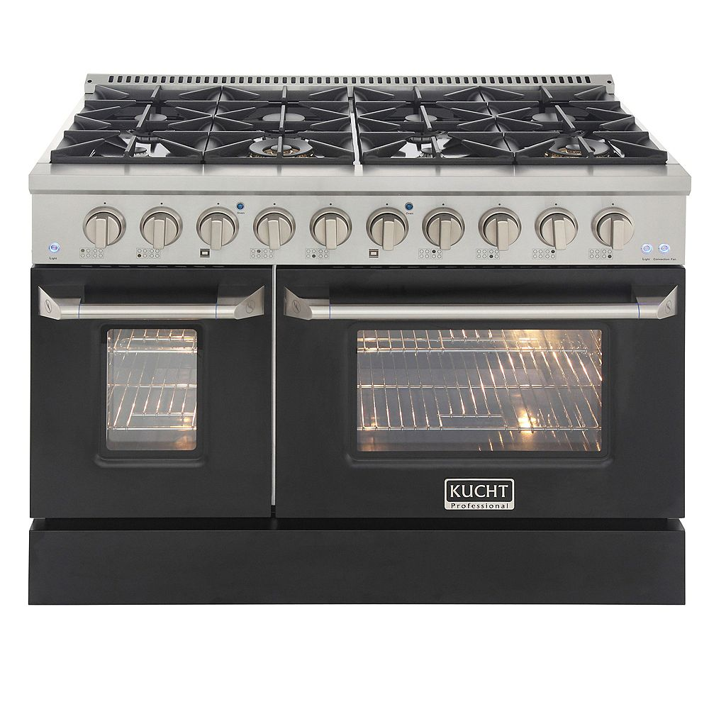 Kucht 48-in Natural Gas Range with 8 Burners Grill/Griddle and Convection Oven
