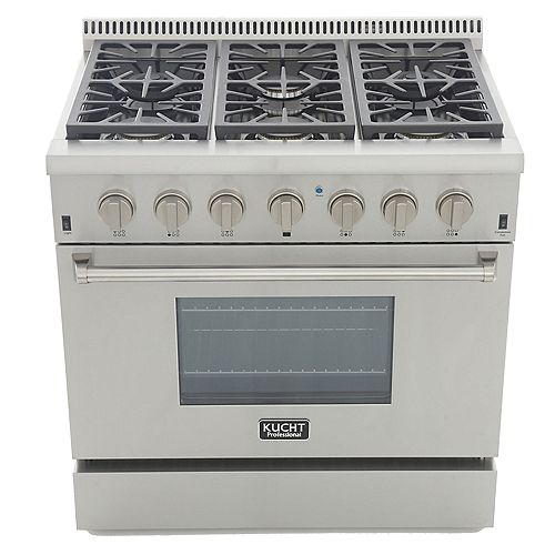 Kucht Professional 36-in 5.2 cu. ft. Natural Gas Range with Convection Oven