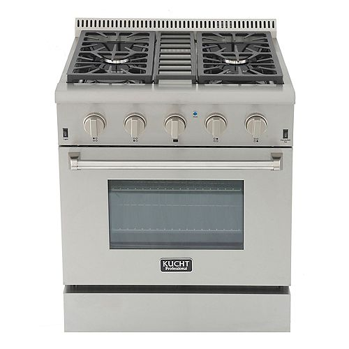Kucht Professional 30-in 4.2 cu. ft. Natural Gas Range with Convection Oven